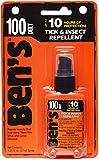 Ben 100% DEET repelente de mosquitos, garrapatas e insectos, bomba de 1.25 onzas, 3 unidades
