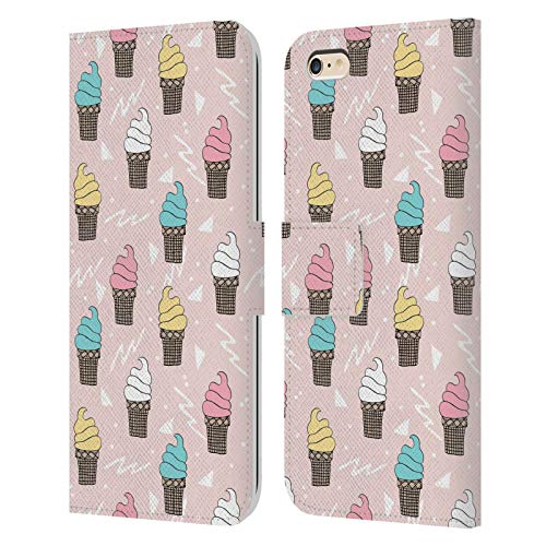 Head Case Designs Licenciado Oficialmente Andrea Lauren Design Helados Patrón de Carcasa de Cuero Tipo Libro Compatible con Apple iPhone 6 Plus/iPhone 6s Plus