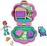 Polly Pocket Mini cofre cochecito de paseo, muñeca con accesorios (Mattel GCN08)