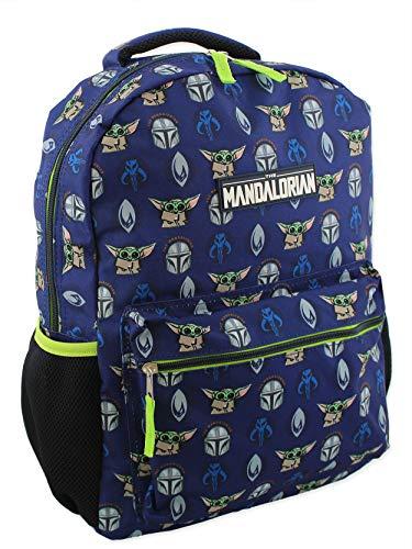 star-wars-mandalorian-baby-yoda-boys-girls-adult-16-inch-school-backpack-one-size-blue-green