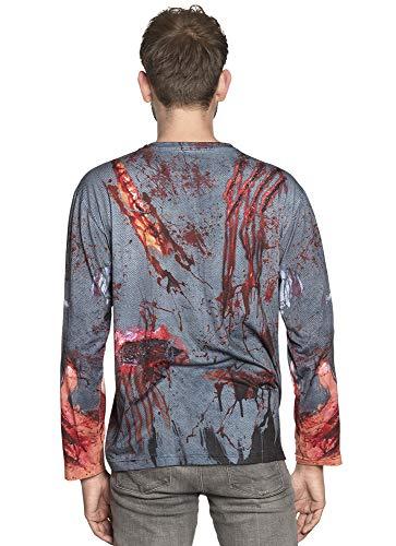 Boland 84329 - Maglietta realistica Zombie, Multicolore, M