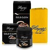 Hagerty Gold Clean & Cloth, bagno per la pulizia di gioielli in confezione da 170 ml e panno per la cura