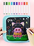 Erasable Drawing Paper Pad Doodle Book Kids Writing Toys, Magic Coloring Pages Painting Books 12 Pens Drawing Sets