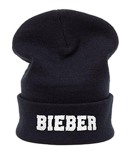 MFAZ Morefaz Ltd Kinder Beanie Mütze Mädchen Jungen Jugendliche Wurm Winter Style Kids Hat Hats SKI Snowboard (Black Bieber)