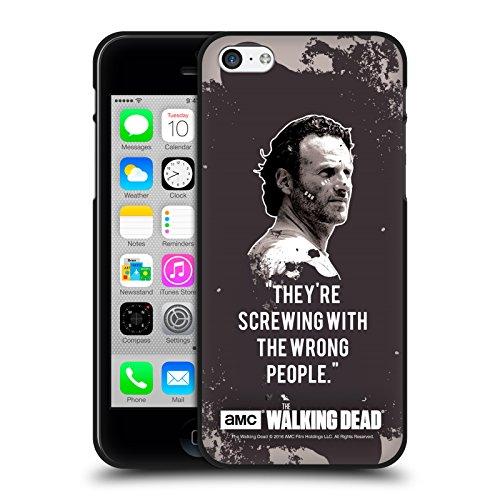 Oficial AMC The Walking Dead Trampa De Rick Citas Funda de Gel Negro Compatible con Apple iPhone 5 / iPhone 5s / iPhone SE 2016
