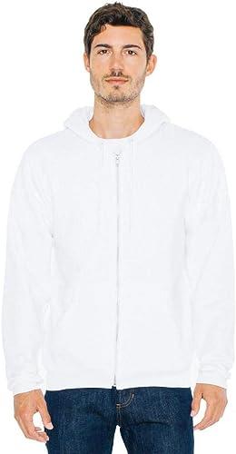 American Apparel - Sweat-Shirt à Capuche - à Capuche - Manches Longues - Opaque - Homme - Blanc - L