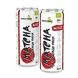 MatchaMagic Matcha Energy Drink (12 Dosen) | Matcha Erfrischungsgetränk mit original Bio Matcha-Pulver aus Japan | 100% Bio | vegan | Natürliches Koffein | Fruchtiger Mango-Citrus & Matcha-Geschmack