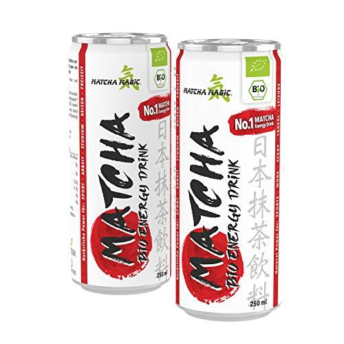 MatchaMagic Matcha Energy Drink | Matcha Erfrischungsgetränk mit original Bio Matcha-Pulver aus Japan | 100% Bio | vegan | Natürliches Koffein | Fruchtiger Mango-Citrus & Matcha-Geschmack (12)