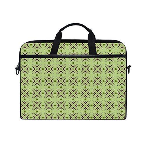 VICAFUCI New 15-15.4 Zoll Laptop Tasche,Umhängetasche,Handtasche,Atomare Form Mit Bumerang Details Punkte Und Gekreuzte Linien