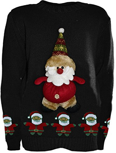 Chocolate Pickle ® Jersey navideño con Decorado - para Unisex de Talla 5-10 años