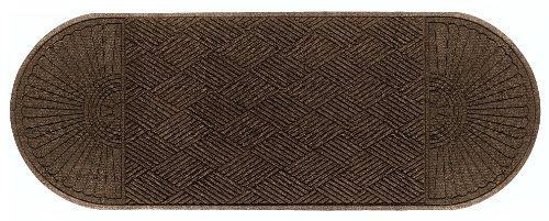 M+A Matting 2249 Waterhog Eco Grand Premier PET Polyester Fiber Double Ends Entrance Indoor/Outdoor Floor Mat, SBR Rubber Backing, 7.1' Length x 3' Width, 3/8