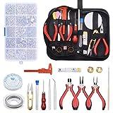 Zalava - Kit de bisutería, juego de 14 piezas de herramientas de reparación de joyas para hacer pulseras, pendientes, bricolaje hecho a mano, etc.