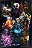 Trends International Magic: The Gathering - Group Wall Poster, 22.375' x 34', Black Framed Version
