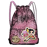 LOL Surprise Sacca Zaino Magic sequins gym bag 39cm con brillantini