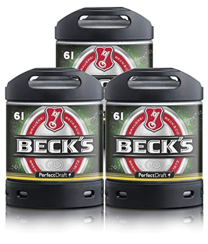 Bier PerfectDraft 3 x 6-Liter Fässer Beck´s Pils Bier - Lager. Zapfanlage für Zuhause. Inklusive 15euros Pfand.