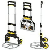Stanley SXWTD-FT501 60 kg Folding Hand Truck with Basket Clip - Silver