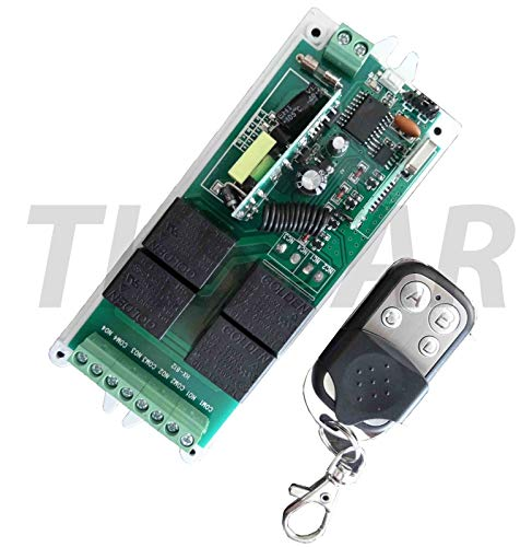 TK STAR 230V 4 Kanal 433Mhz Funk Empfänger Schalter Garagentor Handsender potentialfrei paßt zu Garagentorantrieb Tasteranschluss Hörmann, Novoferm, Normstahl, Liftmaster