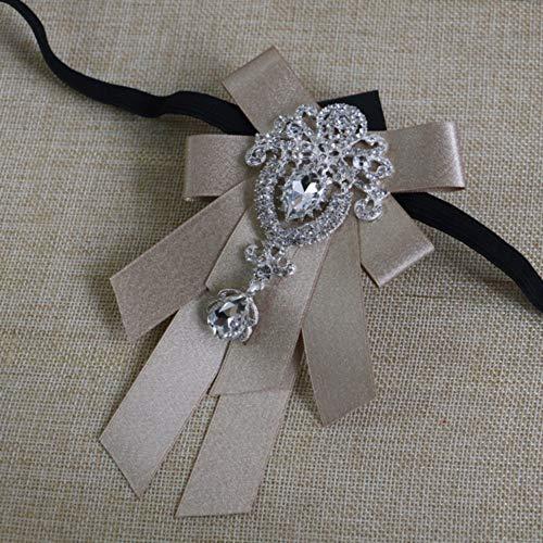 THTHT mannen formele bruiloft band diamond bow tie Britse stijl bow tie bruidegom pak hemdkraag accessoires muziek broche geschenk