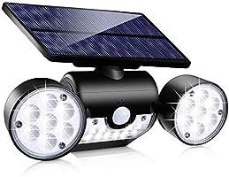 Toyawany Solar Security Lights, 3 Head Solar Motion Sensor Lights Outdoor Adjustable Flood Lights Outdoor Spotlights...