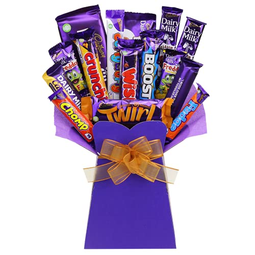 Cadbury Chocolate Bouquet Gift – Chocolate Lovers Luxury Gifts Hamper – 15 Full Size Items - The Best Variety The Perfect Gift idea by Chocoholic Bouquet