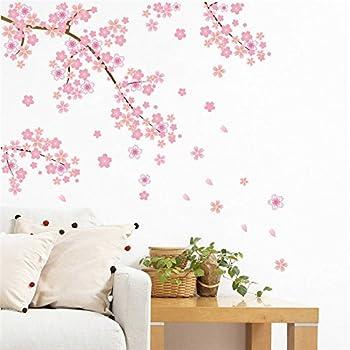 Pegatina pared vinilo decorativo arbol cerezo almendro rosa para salon dormitorios niñas hall escaleras de CHIPYHOME: Amazon.es: Bricolaje y herramientas