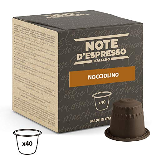 Note D'Espresso Cápsulas de Bebida Instantánea de Avellana - 40 Unidades de...