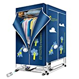 KASYDoFF Clothes Dryer Portable 1500W 1.7 Meters 3-Tier Foldable Clothes Drying Rack Energy Saving (Anion) Clothing Dryers Digital Automatic Timer with Remote Control for Apartment Houses (Blue)