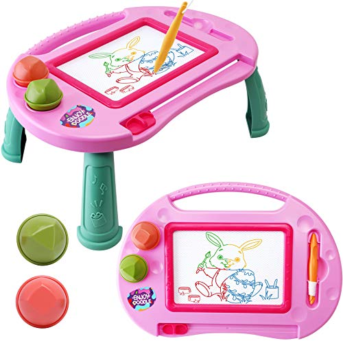 Toys for 1-2 Year Old Girls Magnetic Drawing Board Toddler Toys for Girls Age 2 3 Magna Erasable Doodle Board for Kids Learning Toys for Toddler 2-3 Toy Gifts for 2 3 Year old Girls Boys Birthday