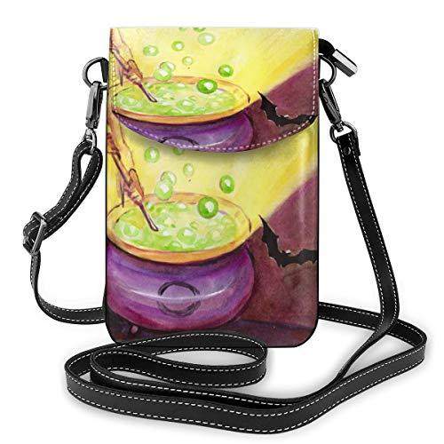 De heks maakt gif. Kleine Crossbody Tassen Crossbody Mobiele Telefoon Handtas - Vrouwen PU Lederen Handtas Met Verstelbare Band Voor Dagelijks Leven