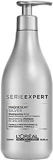 L'Oréal Professionnel Paris Serie Expert Silver Shampoo, Neutralisiert Gelb- oder Kupferstich & verleiht Glanz, mattierend...