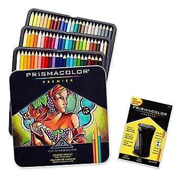 Prismacolor Premier Colored Pencils Soft Core 72 Pack with Pencil Sharpener