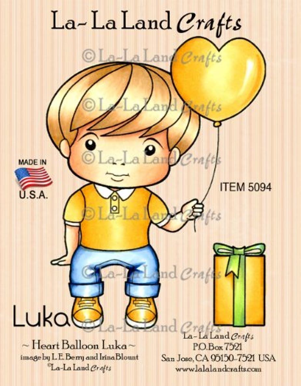 La-La Land Crafts Cling Rubber Stamp, Heart Balloon Luka