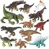 LUBINGT Jouets Réalistes de Dinosaure Dinosaure Jurassic Wild Life Model Modèle Jouet Ensemble Action Figure Dinosaure Modèle Modèle Plastique Assortiment de Dinosaures avec Livre pour Enfants Toys