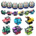 Anditoy 6 Pack Easter Eggs with Train Building Blocks Toys Inside Train Set for Kids Boys Girls Easter Basket Stuffers Fillers Gifts