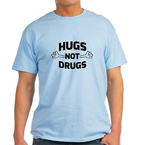 CafePress Hugs! Not Drugs T Shirt 100% Cotton T-Shirt Light Blue