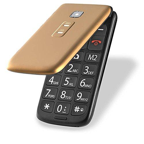Celular Flip Vita Dual Chip MP3 Dourado Multilaser - P9043