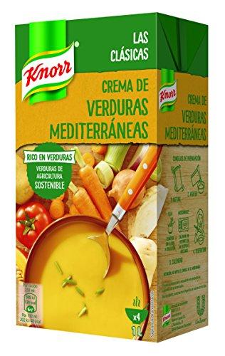 Knorr - Crema Verduras Mediterráneas sin Conservantes ni Colorantes Artificiales 1L, Pack...
