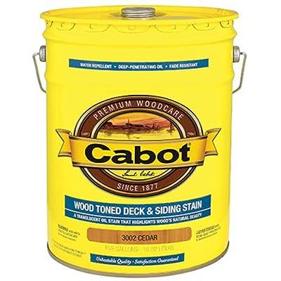 CABOT SAMUEL INC 3002-08 5 Gallon, Natural Wood, Dark Toned Deck & Siding Stain