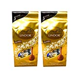 Lindt Lindor Assorted Chocolate Truffles - Milk Chocolate, Dark Chocolate, White Chocolate, 60% Extra Dark, and Milk Chocolate with Caramel - Pack of 2 Bags - 21.2 oz Per Bag - 42.4 oz Total