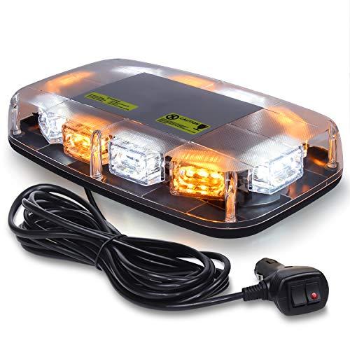 Linkitom - Luz de advertencia LED estroboscópica (30 ledes, luz intermitente de emergencia de alta intensidad)