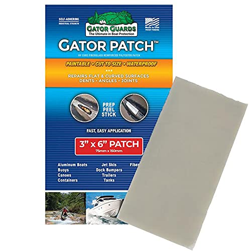 Gator Guards Patch Fiberglass Reinforced Repair Patch - Repairs Holes, Dents & Cracks on Multiple Surfaces - DIY Prep, Peel & Stick - 3 Sizes - USA Made