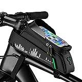 ROCKBROS Fahrrad Rahmentasche Fahrradtasche Wasserdicht Handytasche Touchscreen für Handys bis zu 6,0' iPhone X XS Max 7 8 Plus Galaxy S9 Note7
