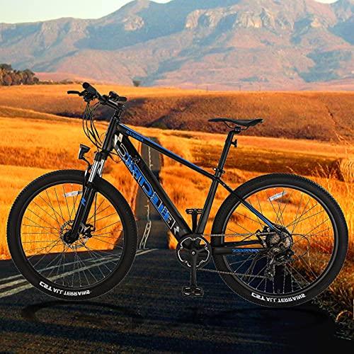 Bicicleta Eléctrica para Adultos Batería Extraíble de 36V 10Ah Bicicleta Eléctrica E-MTB 27,5' E-Bike Shimano 7 Velocidades Hombres Mujeres con Instrumento LCD Central & Autonomía Buena