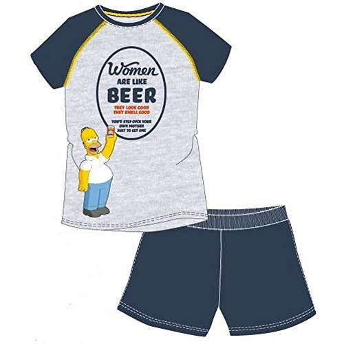 Générique Pyjama Short Homer Simpson Multicolor Small