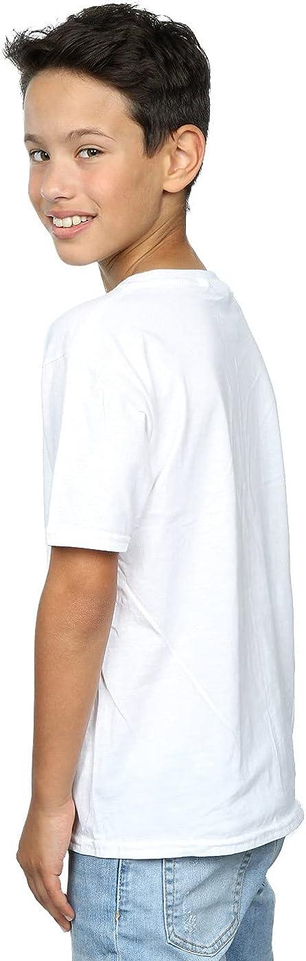 STAR WARS Boys Christmas Death Star T-Shirt 7-8 Years White