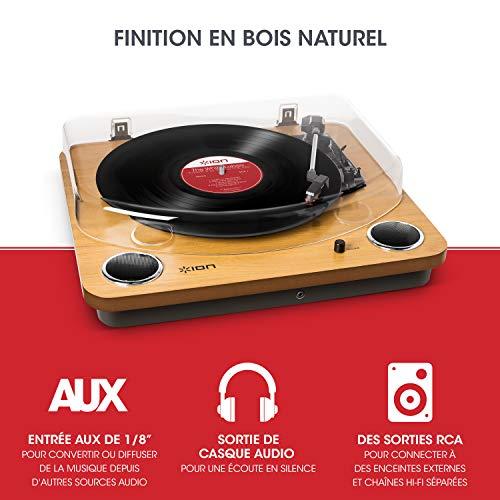 ION Audio Max LP – Platine Vinyle de Conversion avec Trois Vitesses et Enceintes Stéréo, Sorties...