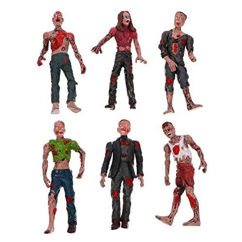 TOYANDONA 6 Piezas de Muñecas Zombie Figuras de Acción Juguetes Horribles Zombie Muñeca de Juguete Terror Cuerpo Muñecas de Halloween Juguete Delicado Walking Dead Juguetes
