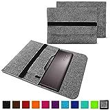 NAUC Notebook Tasche Hülle für Lenovo Yoga C930 900 900 S 910 510 520 530 710 720 730 13,3-14 Zoll Filz Sleeve Schutzhülle aus Filz mit Innentaschen, Farben:Hell Grau