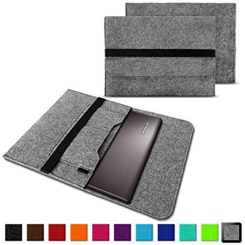 NAUC Notebook Tasche kompatibel für Lenovo Yoga 520 14 Zoll Hülle Filz Sleeve Case Schutzhülle Cover, Farben:Hell Grau