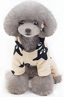 GorNorriss Pets Cat Puppy Sweatshirt Coat Warm Clothes Coat, Puppy Star Printed Fleece Cozy Warm Hooded Clothes